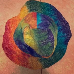 Pride rainbow hemp hat